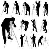 摄影师被设置的向量 库存图片