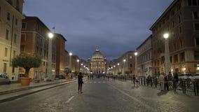 摄影师通过conciliazione,罗马的采取圣彼得射击从 股票视频