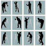 摄影师集合向量 免版税图库摄影
