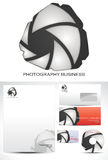 摄影模板徽标设计 库存图片
