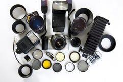 摄影的设备 免版税库存图片