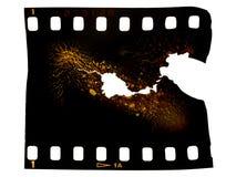 摄影被烧的胶卷画面 免版税库存照片