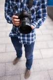 摄影设备照片dslr照相机 免版税库存照片