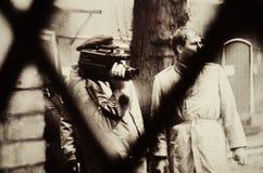 从摄影陈列的细节在史塔西博物馆 免版税库存图片