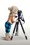 年轻摄影 免版税库存照片