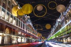 摄政的街道圣诞灯2015年 库存照片