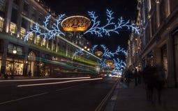 摄政的街道圣诞节 免版税库存图片
