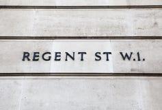 摄政的街道在伦敦 免版税库存图片