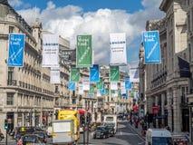 摄政的街道看法在伦敦 图库摄影