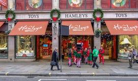 摄政的街道,伦敦,英国- 2017年12月5日:基督 库存图片