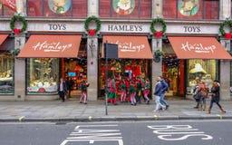 摄政的街道,伦敦,英国- 2017年12月5日:基督 免版税库存图片