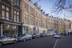 摄政的街道,克利夫顿,布里斯托尔,英国 库存图片