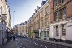 摄政的街道,克利夫顿,布里斯托尔,英国 库存照片