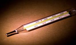 摄氏米温度温度计 库存照片