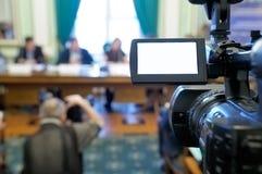 摄象机会议 免版税库存照片