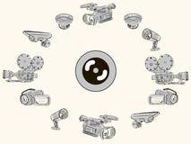 摄象机和透镜 免版税图库摄影