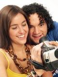 摄象机夫妇 免版税库存图片