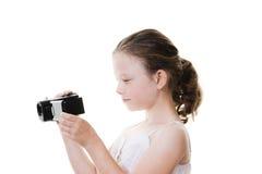 摄象机女孩 库存图片