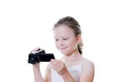 摄象机女孩 库存照片