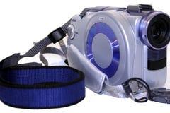 摄象机微型盖帽的盘  图库摄影