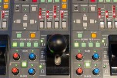 摄象机控制盘区 免版税图库摄影