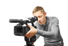 摄象机操作员 免版税库存照片