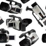 摄象机无缝的墙纸 库存照片