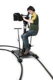 摄象机移动式摄影车hd 库存图片