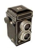 摄象机镜头孪生葡萄酒 免版税库存照片