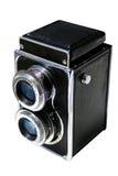 摄象机镜头孪生 库存图片