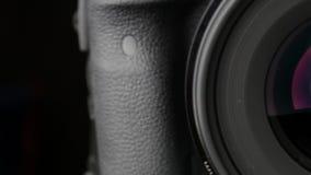 摄象机镜头开口工作 特写镜头 滑子射击 50fps 影视素材