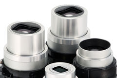 摄象机镜头现代部件 库存照片
