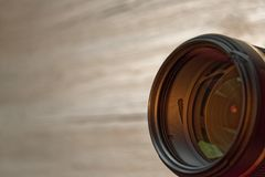 摄象机镜头被排列往观察员 免版税库存图片