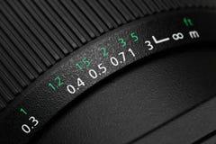 摄象机镜头焦点圆环 免版税库存图片