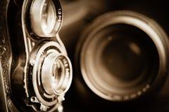 摄象机镜头葡萄酒 图库摄影