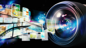 50摄象机镜头mm专业人员 免版税库存照片