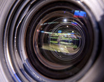 摄象机,电视播送曲棍球 免版税图库摄影