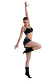 摆在体育运动妇女年轻人的运动服装舞蹈 库存图片