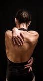 摆在她的跳芭蕾舞者  免版税库存图片