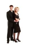 摆在年轻人的夫妇 免版税库存照片