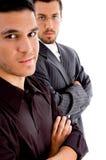 摆在成功的年轻人的董事 免版税库存图片