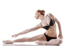摆在演播室的情感跳芭蕾舞者的图象 免版税图库摄影
