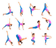 摆在瑜伽 免版税库存照片