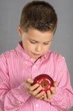 苹果19的孩子 免版税图库摄影