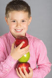 苹果17的孩子 图库摄影