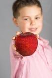 苹果13的孩子 库存照片