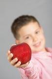 苹果11的孩子 库存照片