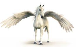摆在白色的神话白色佩格瑟斯隔绝了背景 向量例证