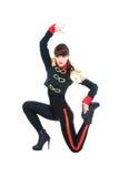 摆在阶段的引诱的舞蹈演员 免版税图库摄影