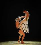 摆脱男性差事入迷宫现代舞蹈舞蹈动作设计者玛莎・葛兰姆 免版税库存照片